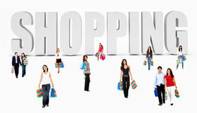 Shopping people Stock Photo