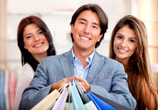 Shopping people Royalty Free Stock Photo