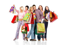 Shopping people Stock Images