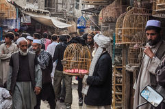 Shopping people in Afghanistan Royalty Free Stock Images
