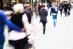 Shopping people in the city Stock Image