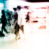 Shopping people crowd at. City shopping people crowd at marketplace shoe shop abstract background Stock Image
