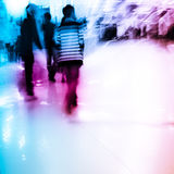Shopping people crowd. City shopping people crowd at marketplace abstract background Stock Image