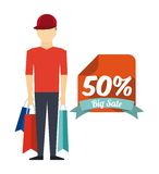 Shopping people design Stock Photography