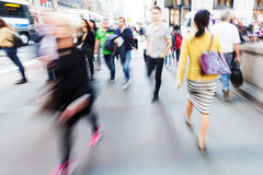 Shopping people on the move in the city Stock Photography