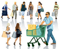 Shopping people Stock Image