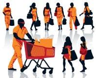 Shopping people Stock Photo