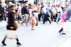 Shopping people on the street royalty free stock images