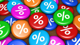 Shopping Percent Discount Promo Badges Royalty Free Stock Images