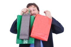 Shopping person isolated Royalty Free Stock Photography