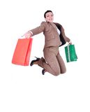 Shopping person isolated Royalty Free Stock Photos