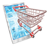 Shopping phone app concept Stock Images