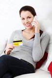 Shopping on the phone. Royalty Free Stock Photography