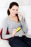 Shopping on the phone. Stock Photography