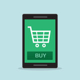 Shopping on Phone Royalty Free Stock Photo