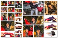 Shopping pictures collage Royalty Free Stock Images