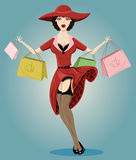 Shopping Pin-up illustration Royalty Free Stock Image