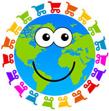 Shopping planet. Happy and colorful shopping planet Royalty Free Stock Photography