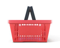 Shopping plastic basket front view Royalty Free Stock Photos