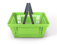 Shopping Plastic Basket Green Royalty Free Stock Photography