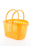 Shopping plastic basket isolated on white background Stock Photo