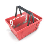 Shopping plastic basket red Royalty Free Stock Image