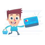 Shopping with plastic card Stock Image
