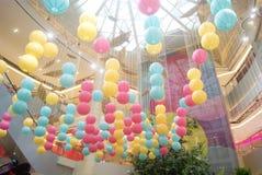 Shopping plaza decorative lantern Stock Image
