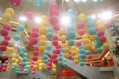 Shopping plaza decorative lantern Stock Photos