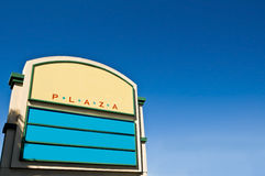 Shopping Plaza Sign Stock Photo