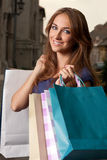 Shopping portrait Stock Photo