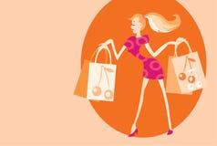 Shopping posing royalty free stock photos