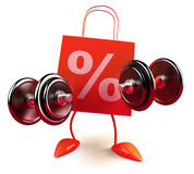 Shopping power Royalty Free Stock Photography