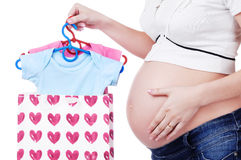 Shopping for pregnant woman Stock Photography