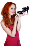 Shopping pretty girl Royalty Free Stock Photography