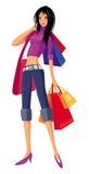 Shopping pretty girl. Stock Photos
