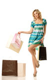 Shopping pretty woman Stock Photo