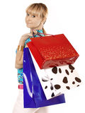 Shopping pretty woman Stock Images