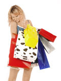 Shopping pretty woman Royalty Free Stock Images
