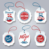 Shopping pricing tags set Royalty Free Stock Photography