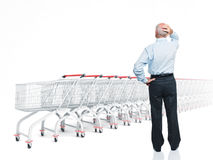 Shopping problem Stock Photo