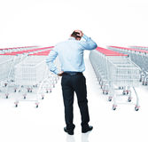 Shopping problem Royalty Free Stock Image