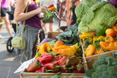 Shopping for Produce Royalty Free Stock Images