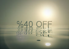 Shopping Promotions Bundle 40 Off. Shopping Promotions Bundle is great background image for almost any kind of project Royalty Free Stock Image