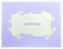 Shopping Purple Background Royalty Free Stock Photography