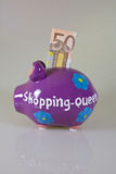 Shopping Queen money box Royalty Free Stock Image