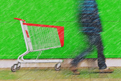 Shopping on a rainy day Stock Photography