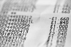 Shopping receipt Stock Photos