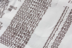 Shopping receipt Stock Image