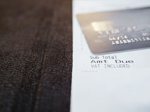 Shopping Receipt with Credit card Payment Stock Photos